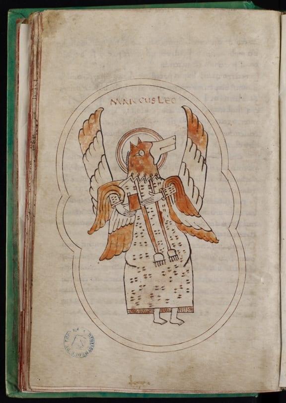 2Troyes, Bibliothèque municipale (Médiathèque Grand Troyes), MS 960, f. 43v, Mark (photo: Médiathèque Grand Troyes).