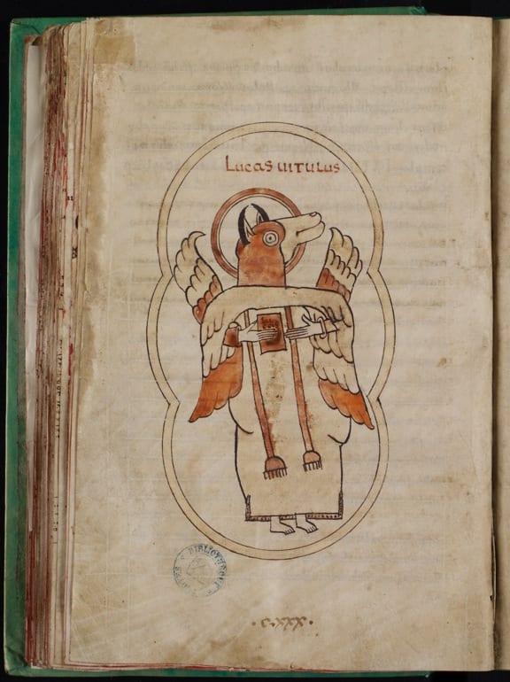 3Troyes, Bibliothèque municipale (Médiathèque Grand Troyes), MS 960, f. 71v, Luke (photo: Médiathèque Grand Troyes).