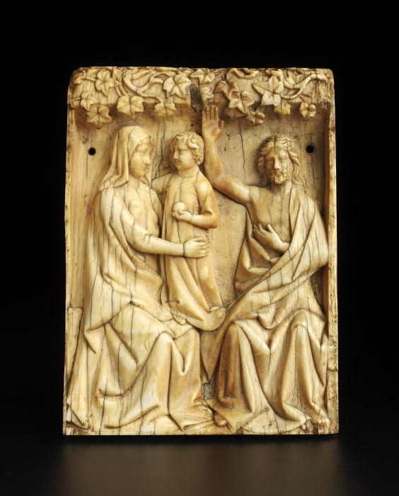 7. Panel, perhaps from a crozier, ivory, 101 x 75 x 11 mm. London, Courtauld Gallery, O.1966.GP6 (photo: ©The Samuel Courtauld Trust, The Courtauld Gallery, London).