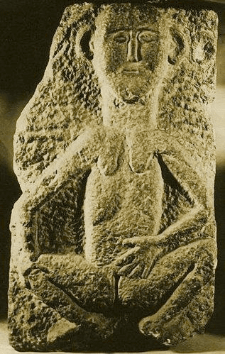 Fig. 1. Sheela-na-gig from the Fethard wall in Fethard, Co. Tipperary, Ireland, detail, twelfth-century (Photo: Wikipedia Commons)
