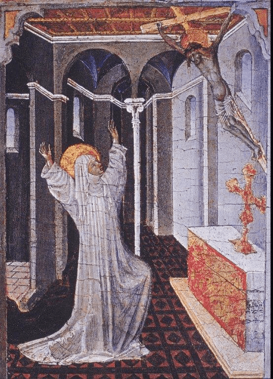Fig. 1. Giovanni di Paolo, Stigmatization of St Catherine of Siena, tempera and gold on wood, 1460–1465. New York, Metropolitan Museum of Art, inv. no. 1997.117.3. (Met open use policy via ArtStor)