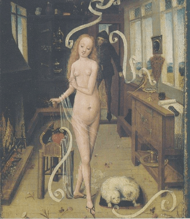 Fig. 6. The Love Charm, oil on panel, Germany or Lower Rhine, 1470–1480. Leipzig, Museum der Bildenden Künste (Public domain image)