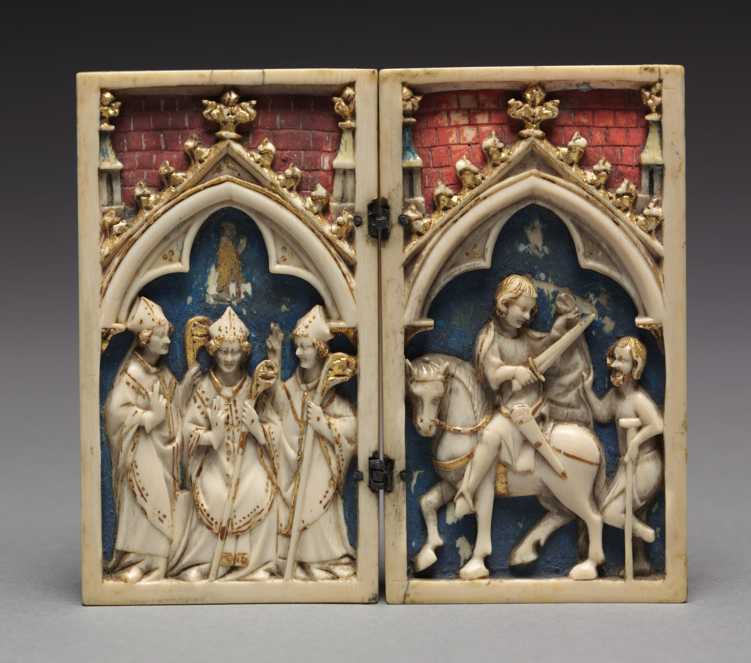 Diptych of the Life of St. Martin of Tours. Cologne, 1340-1360