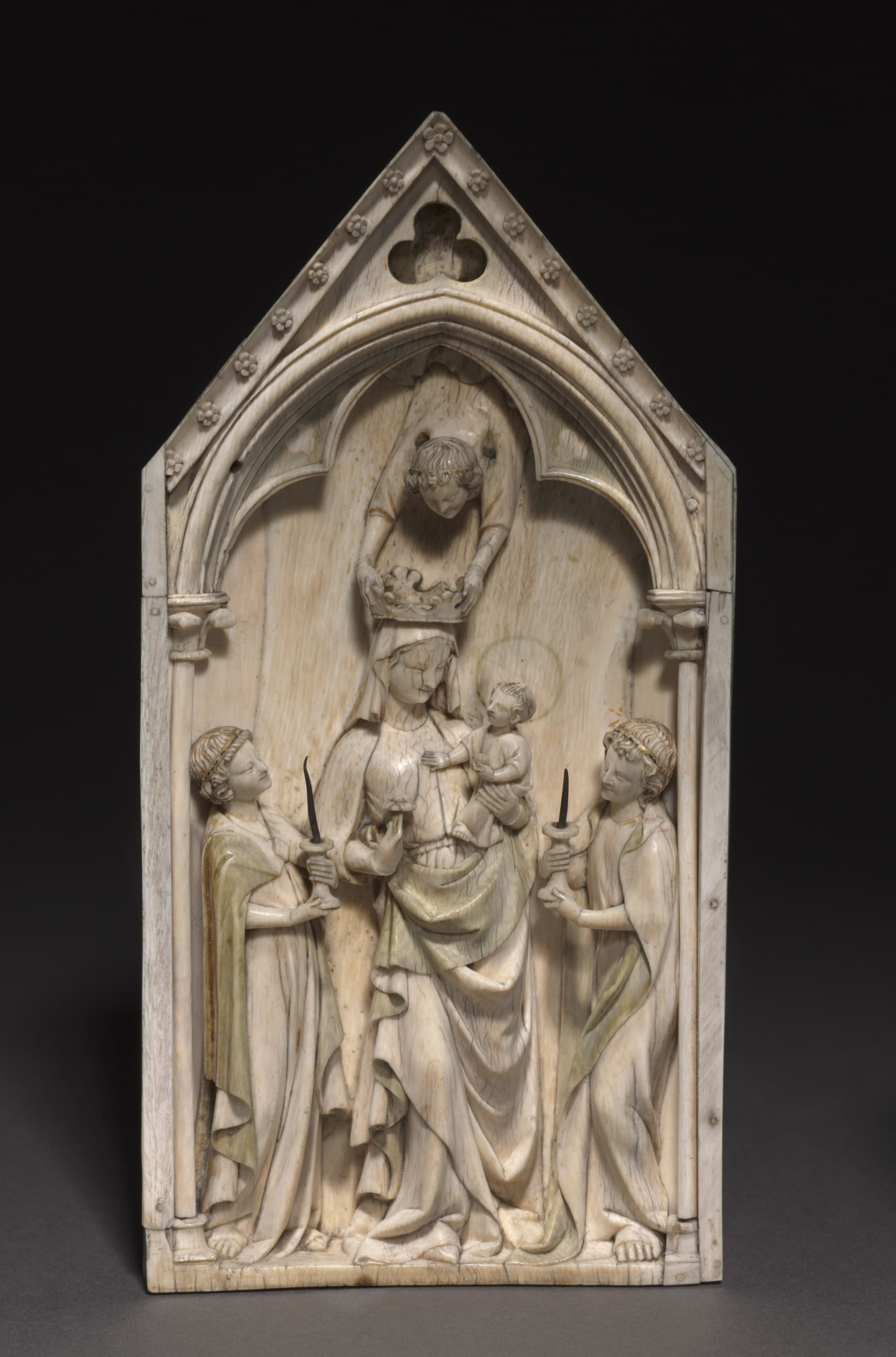 Figure 2. Coronation of the Virgin, central panel of an ivory triptych. Paris, 1320-1330