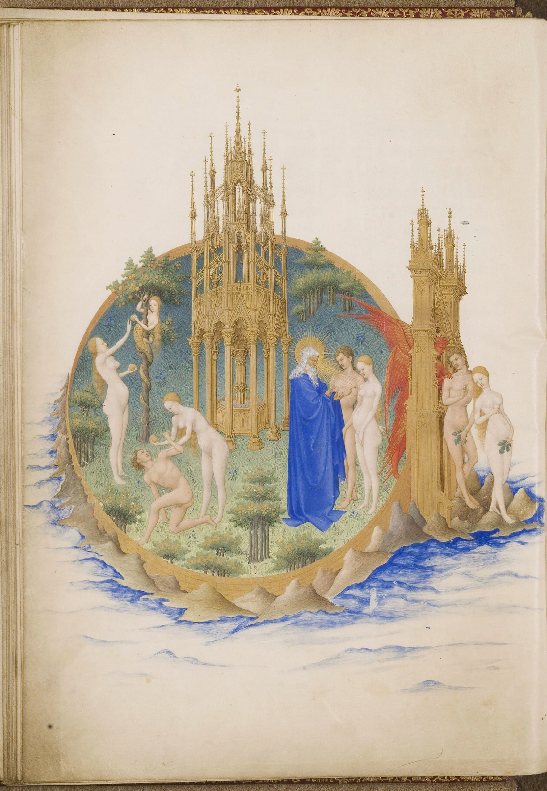 Figure 1.  The Limbourg Brothers, the Très Riches Heures, folio 25v (image provided by the CNRS-IRHT