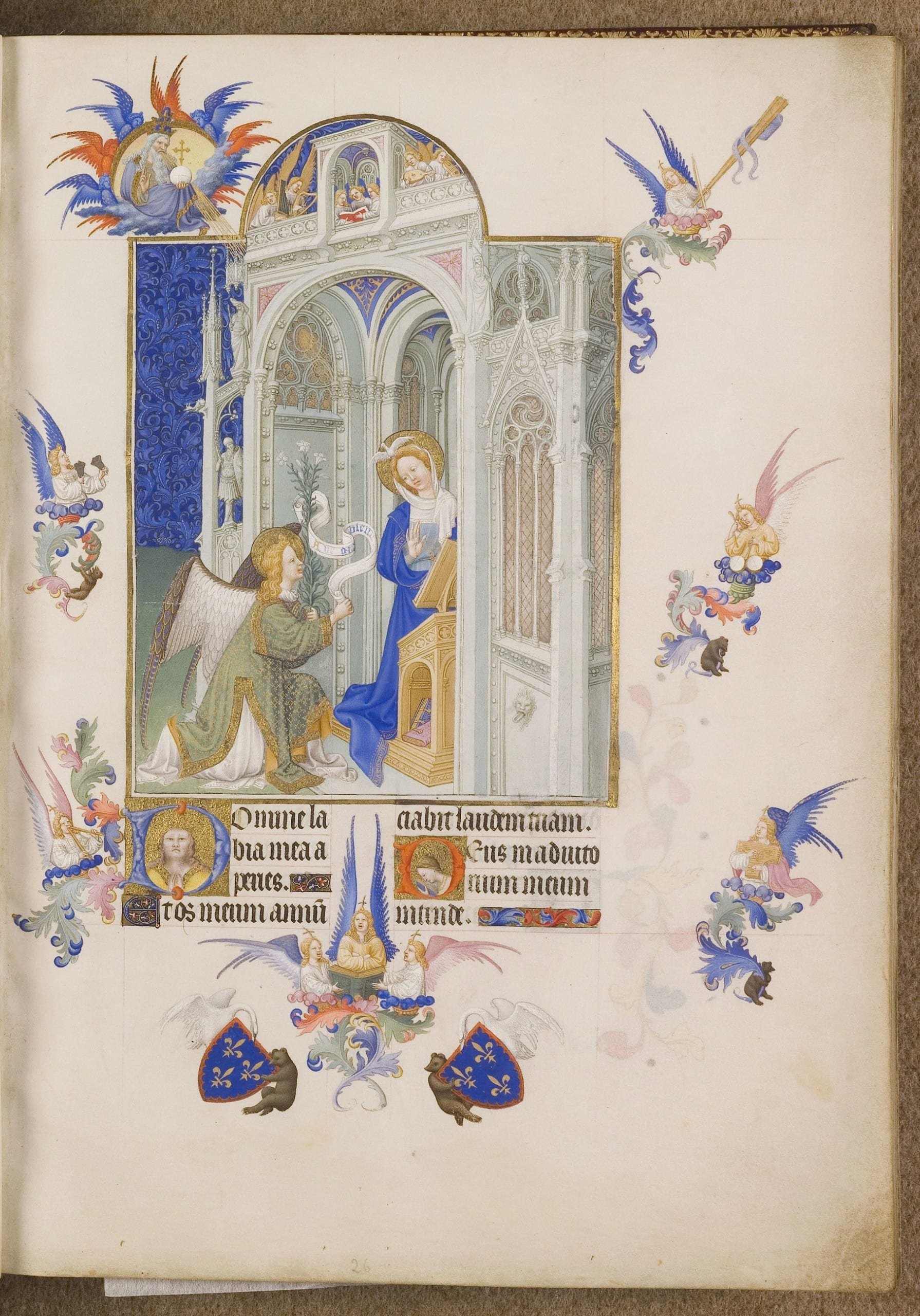 Figure 2. The Limbourg Brothers, the Très Riches Heures, folio 26r (image provided by the CNRS-IRHT)